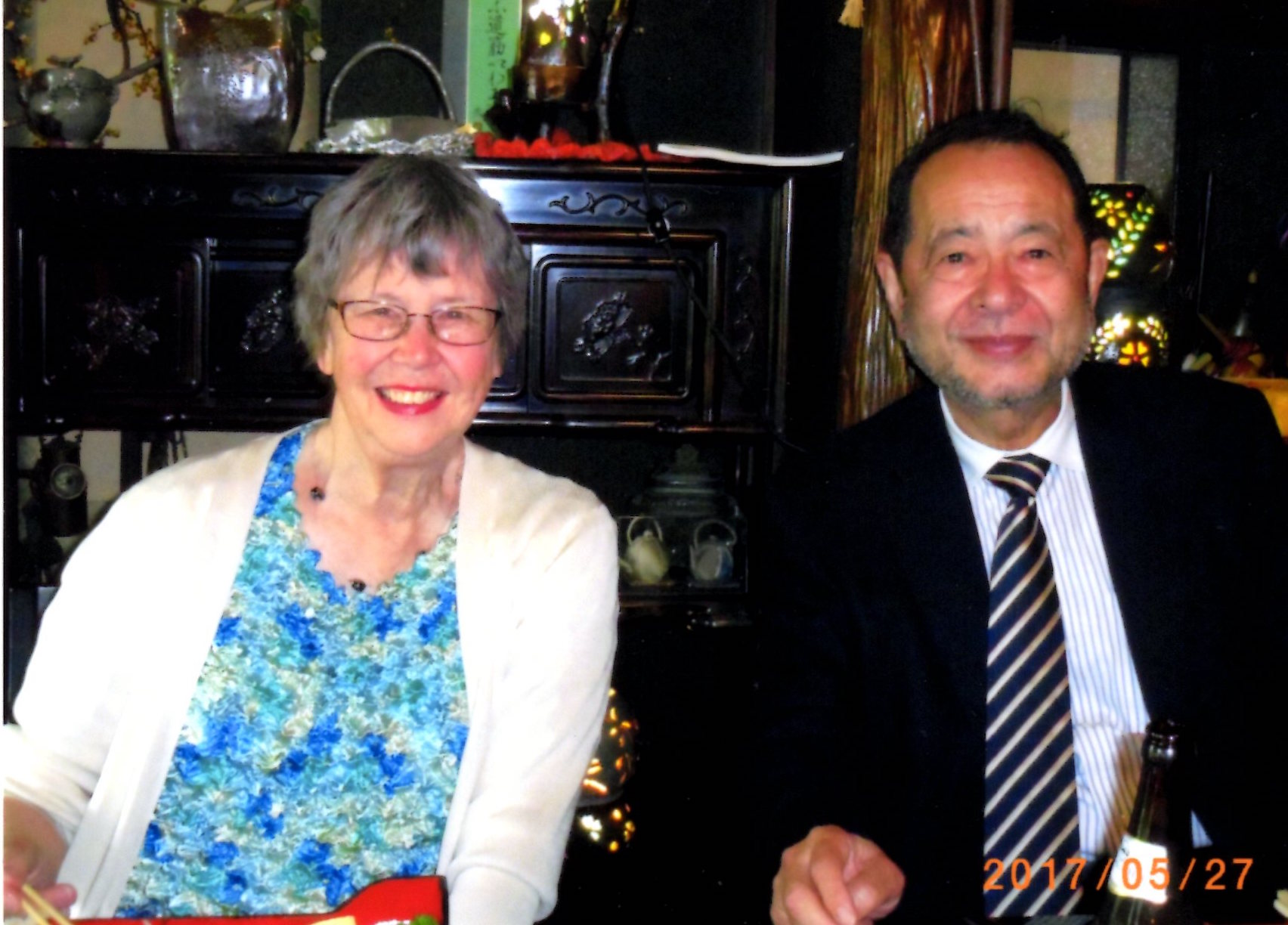 Author, Roberta Stephens and Afterword Author Mr. Komei Sasaki