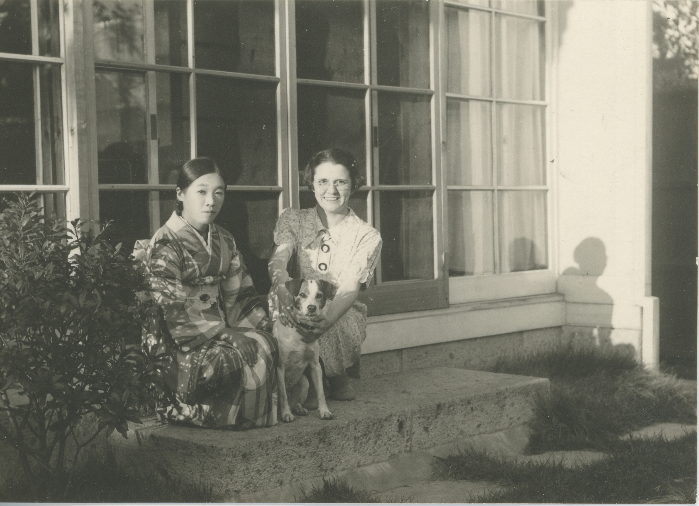 Missionary Lora Patton (R) with her cook, Chapter 6. Courtesy of American Baptist Historical Society